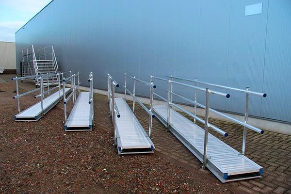 Conjunto pasarelas de aluminio